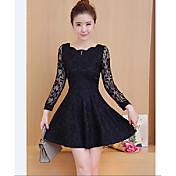 2017 las nuevas mujeres coreanas del resorte de las secciones largas delgadas adelgazan la falda fina que basa el vestido a largo plazo