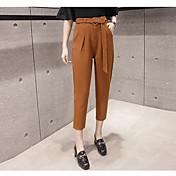 2017 nuevos coreano de cintura alta pantalones harén sueltos pantimedias femenina pies significativamente delgadas pantalones casuales