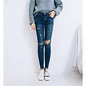 signo de la rodilla tramo agujero 2017 versión coreana del delgado era delgada pantalones lápiz pies nueve puntos de los pantalones