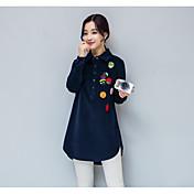 冬のプラスベルベットコーデュロイシャツの韓国の綿緩い野生のカジュアル長袖シャツと長いセクション底入れシャツ