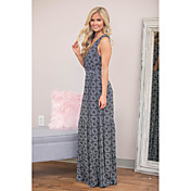 Spot amazon deseo impresión longitud falda big swing dress
