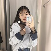 firmar en la primavera de 2017 ventilador coreano hilado de la red blusa dentro del paseo basa la camisa calada malla camiseta de manga