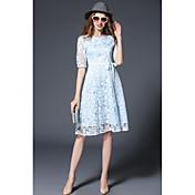 Signo lugar 2017 primavera nuevo de gama alta damas gasa vestido bordado vestido falda sección larga