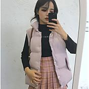 Signo ~ versión coreana era fino abajo cuello chaleco sin mangas chaleco bolsillo
