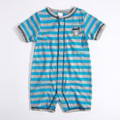 赤ちゃん カジュアル/普段着 ストライプ カラーブロック コットン ワンピース 夏 半袖