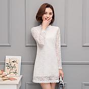 記号2017新しい白いレースのドレスフック花中空気質の春のドレス