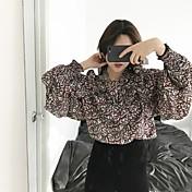 サイン〜韓国ソウルの気質は、ビームが花柄のシャツを率いフラウンス付き