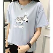 Signo de manga corta camisa camiseta femenina verano 2017 nueva ola de ms. Suelta salvaje cuello redondo camisa compasiva