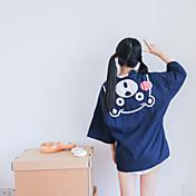 firmar nueva estancia chaqueta de punto de algodón viento oso de dibujos animados de impresión kimono japonés rebeca de la capa femenina