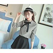 punto de señal de lijado Instituto Coreano de viento de proa camisa camisa de mujer salvaje de encaje de manga larga