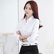 Signo camisa impresión 2017 primavera nuevas mujeres&Blusas pulgadas camisa