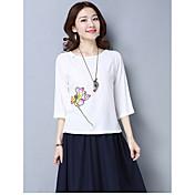 nueva primavera y el verano de 2017 las mujeres&# 39; s bordado nacional de viento de estilo chino estilo chino retro suelta de manga