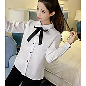 新しい韓国の弓白いシャツ