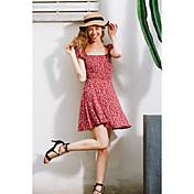 aliexpress爆発モデル春と夏の女性のドレスセクシーなスリムなバックレースの花のスカート