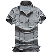 nuevos hombres versión coreana de la camiseta delgada de algodón piqué de manga corta de manga corta de la camiseta del polo de la solapa