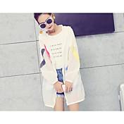 firmar la protección solar femenina ropa de verano 2017 nuevas secciones ultra-delgada de la chaqueta de manga larga y UV larga impresión