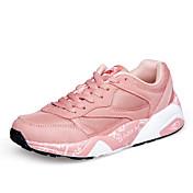 女性の運動靴は、快適な光の裏にはチュール屋外アスレチックカジュアルレースアップスエード秋春
