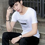 サイン夏プリント半袖Tシャツメンズ&スリムな若者の若者の#39;綿ラウンドネック半袖Tシャツ