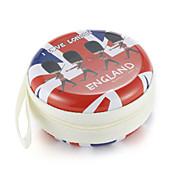 Fidget mano spinner dedo bolsa británico viento metal auricular universal caso
