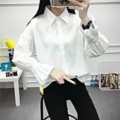 2017 marea de manga larga camisa blanca de la camisa de los estudiantes femeninos coreano fan camisa salvaje floja camisa-pulgada
