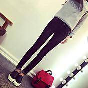 2017新しい韓国の潮のズボンカフスカルジーンズの足の鉛筆のズボンの女性は薄かったです