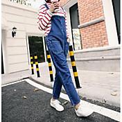 Nueve nueva primavera suelta simples pantalones vaqueros femenino estudiante coreano fue delgada pieza pantalones casuales marea