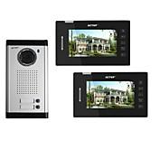 Actop pantalla táctil video de la puerta sistema de intercomunicación del teléfono de múltiples apartamento 4wire 7 pulgadas con 2 botones