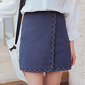 Signo yugo bordado faldas mujer delgada cintura delgada una falda vestido 2