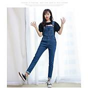 Mujer Moderno Tiro Medio strenchy Ajustado Pantalones,Lápices Color sólido Color puro