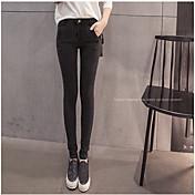 簡単なストレッチスリム薄い野生秋の段落の潮のジーンズの足の鉛筆のズボンの韓国語バージョンに署名