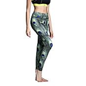 Yogabukser Tights Leggins Underdele Åndbart Hurtigtørrende Naturlig Høj Elasticitet Sportstøj DameYoga Pilates Træning & Fitness