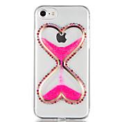 Para Diamantes Sintéticos Líquido Manualidades Funda Cubierta Trasera Funda Brillante Dibujo 3D Suave TPU para AppleiPhone 7 Plus iPhone