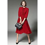 firmar punto - nuevas estaciones europeas principios de la primavera costura de encaje vestido de gasa falda grande