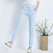Signo 2017 primavera y otoño pantalones de algodón nueva hembra literaria de lino cordón pantalones casuales pies de ancho canción halun