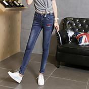 versión coreana de la nueva primavera pantalones de mezclilla skinny pantalones elásticos pies lápiz delgado pantalones vaqueros sabor