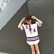firmar bf uniformes estilo de la calle coreano hueco cuerda color de los cordones sueltos de manga corta de hombres y mujeres de servicio