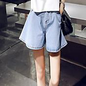 pantalones cortos de la cintura del dril de algodón femenino del verano era delgada yardas grandes flojas de ancho estudiantes coreanos