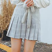 サインmgj17年春節系系列学院風格子压半半身裙女现行