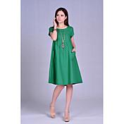 podepsat v létě nové velké velikosti ženy volné záhyby tuku mm dlouhý úsek sukně bavlny s krátkým rukávem šaty temperament