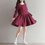 firmar en la primavera de 2017 vestido de algodón delgado de la impresión nacional de viento del ventilador del arte retro mujer de manga