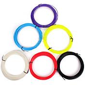 3d udskrivning pen pla, 10 meter forbrugsprodukter 1,75 mm, en seks produkter, seks farver, rød, gul, hvid, lilla, pink, sort