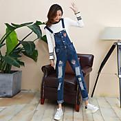 サイン2017春韓国の漫画ファッションデニムオーバーオールシマーパンツパンティーストッキング女性モデル学生