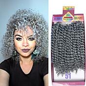3pieces / pack 10inch jerry kudrnaté vlasy háčkování excentrický zvrat syntetický Kanekalon hluboko kudrnaté účes bez háček dárek