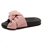 MujerSuelas con luz-Zapatos de taco bajo y Slip-Ons-Informal-PU-Negro Verde Rosa