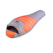 寝袋 マミー型 シングル 幅150 x 長さ200cm -25-15-0 ダックダウン75 キャンピング 屋外 保温 自由之舟骆驼