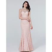 Trompeta / Sirena Joya Hasta el Suelo Encaje Evento Formal Vestido con Detalles de Cristal por TS Couture®