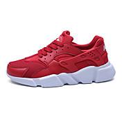 Hombre-Tacón Robusto-Confort Suelas con luz-Zapatillas de Atletismo-Exterior Informal Deporte-PU-Blanco Negro Rojo