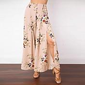 Mujer Tiro Medio Noche Casual/Diario Maxi Faldas,Columpio Con Muelle Verano Floral