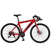 Bicicleta de Montaña Ciclismo 21 Velocidad 26 pulgadas/700CC SHIMANO TX30 Doble Disco de Freno Ordinario Cuadro de Acero Ordinario Acero