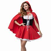Cosplay Kostýmy Kostým na Večírek Pohádkové Festival/Svátek Halloweenské kostýmy Červená Patchwork Šaty Přehoz Halloween Karneval Dámské